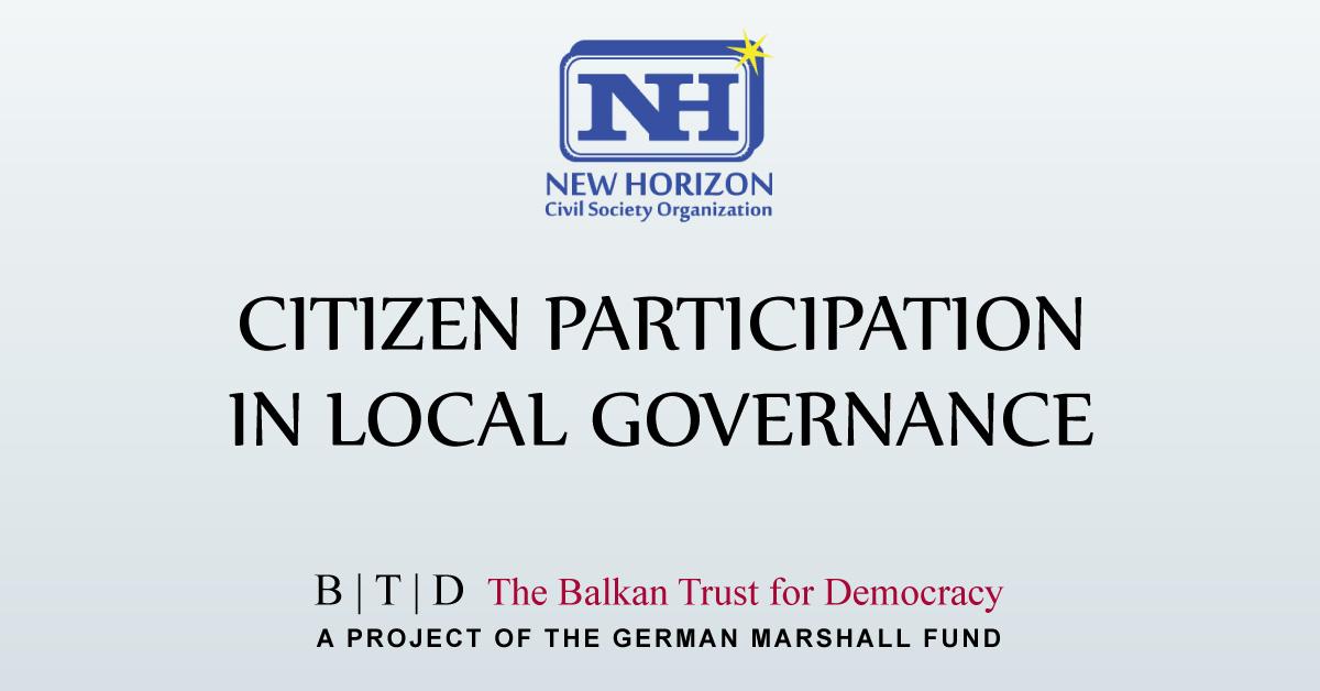 Pjesëmarrja e qytetarëve në vetëqeverisjen lokale