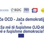 """Predstavljanje projekta """"Jače OCD – Jača demokratija"""""""