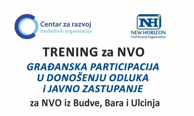 TRAINING FOR NGOs- CITIZEN PARTICIPATION IN DECISION-MAKING PROCESS AND PUBLIC REPRESENTATION