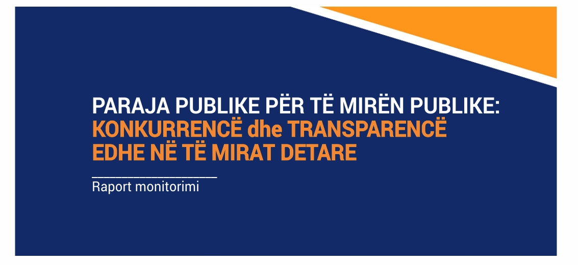 Publication of the monitoring report – PUBLIC MONEY FOR THE PUBLIC GOOD
