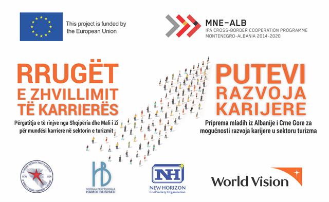 PUTEVI RAZVOJA KARIJERE – Priprema mladih iz Albanije i Crne Gore za mogućnosti razvoja karijere u sektoru turizma
